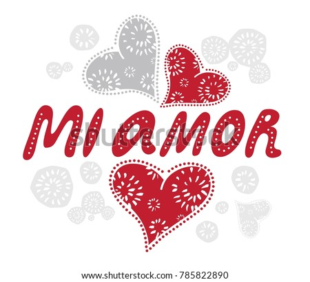 mi amor my love spanish romantic stock vector royalty free