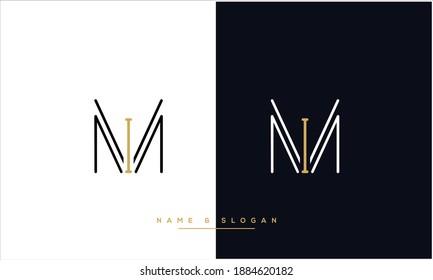 MI ,IM  Abstract Letters Logo Monogram