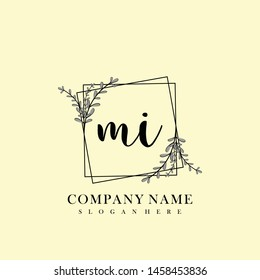 MI Initial beauty floral logo template
