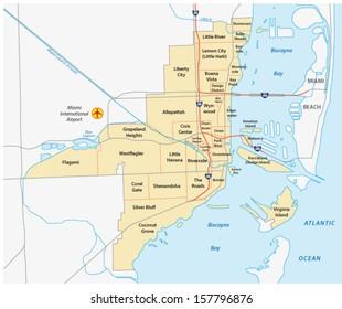 miami administrative map
