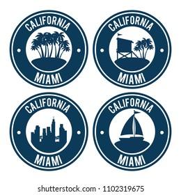 miami beach california set seals