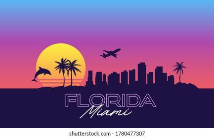 Miami Florida VIce City Retro Wave