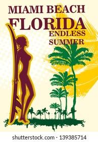 miami palm beach florida vector art
