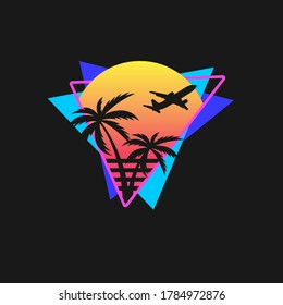 Miami Vice Vector Graphic for T-shirt Print