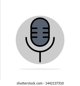 Mic, Microphone, Sound, Show Abstract Circle Background Flat color Icon