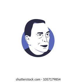 Michael Bloomberg in vector illustration isolated