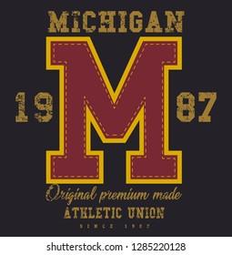 Michigan graphic print