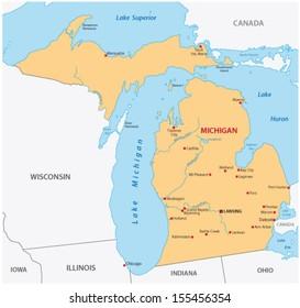 Www Michigan Map.Michigan Map Images Stock Photos Vectors Shutterstock