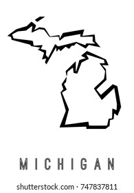 Michigan Map Images Stock Photos Vectors Shutterstock