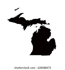 Michigan map, vector illustration