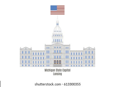 Michigan State Capitol in Lansing, United States of America