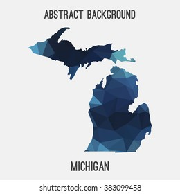 Michigan state map in geometric polygonal style.Abstract tessellation,modern design background. Vector illustration EPS8