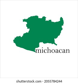 michoacan map on white background