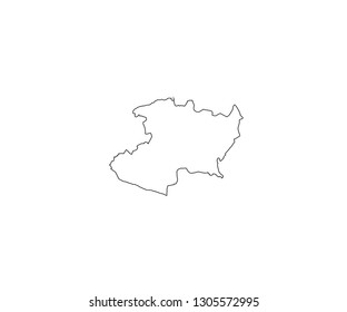 Michoacan outline map Mexico state