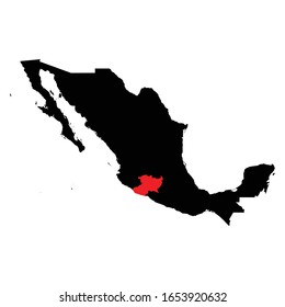 Michoacan states highlighted on Mexico map Vector EPS 10