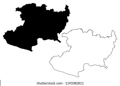Michoacan (United Mexican States, Mexico, federal republic) map vector illustration, scribble sketch Free and Sovereign State of Michoacán de Ocampo map