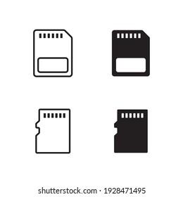 Micro sd card vector icon