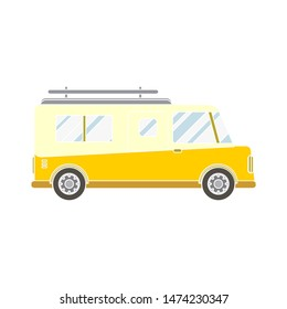 microbus icon. flat illustration of microbus vector icon. microbus full symbol