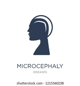 Microcephaly icon. Trendy flat vector Microcephaly icon on white background from Diseases collection, vector illustration can be use for web and mobile, eps10