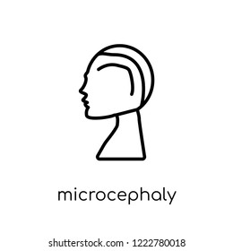 Microcephaly icon. Trendy modern flat linear vector Microcephaly icon on white background from thin line Diseases collection, editable outline stroke vector illustration