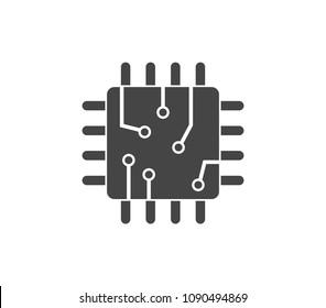 Microchip icon. CPU icon.  Processor icon.