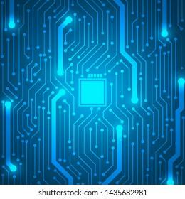 Microchip Technology Background, blue circuit board pattern