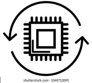 Microcontroller IOT Icon