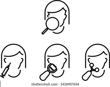 Microcurrents icon, cosmetologist tool, vector