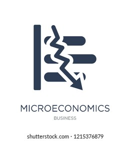 Microeconomics icon. Trendy flat vector Microeconomics icon on white background from Business collection, vector illustration can be use for web and mobile, eps10