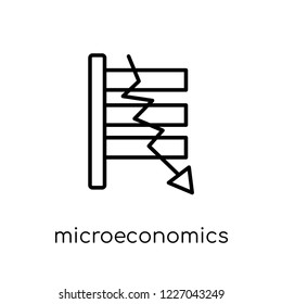 Microeconomics icon. Trendy modern flat linear vector Microeconomics icon on white background from thin line Business collection, editable outline stroke vector illustration