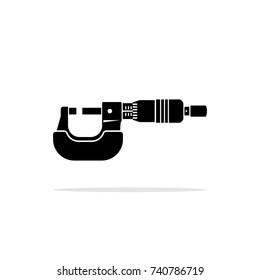 Micrometer vector icon.