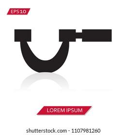 micrometer vector icon symbol