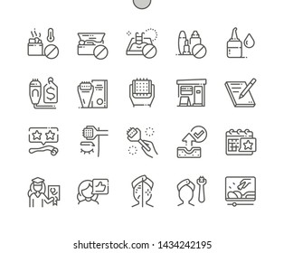 Microneedling Well-crafted Pixel Perfect Vector Thin Line Icons 30 2x Grid for Web Graphics and Apps. Simple Minimal Pictogram