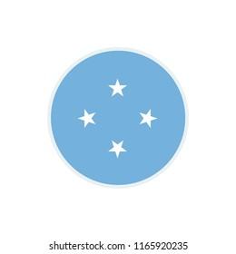Micronesia Flag. Micronesia circle flag. Micronesia Symbol.