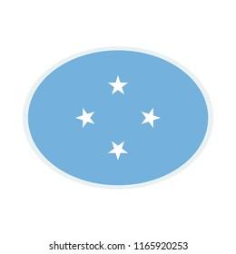 Micronesia Flag. Micronesia ellipse flag. Micronesia Symbol.