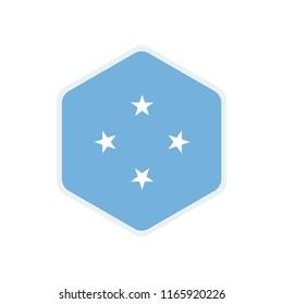 Micronesia Flag. Micronesia hexagon flag. Micronesia Symbol.