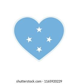 Micronesia Flag. Micronesia love flag. Micronesia Symbol.