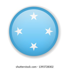 Micronesia flag round bright icon vector Illustration