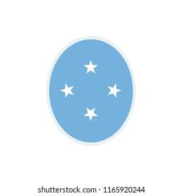 Micronesia Flag. Micronesia Round flag. Micronesia Symbol.