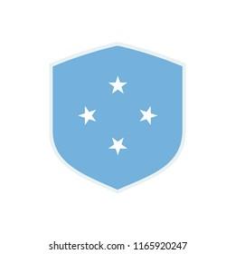 Micronesia Flag. Micronesia Shield flag. Micronesia Symbol.
