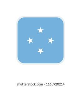Micronesia Flag. Micronesia square flag. Micronesia Symbol.