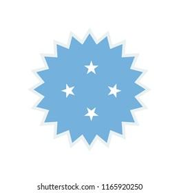 Micronesia Flag. Micronesia sun flag. Micronesia Symbol.