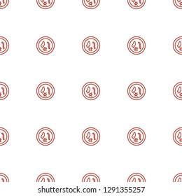 microorganism icon pattern seamless white background. Editable outline microorganism icon. microorganism icon pattern for web and mobile.
