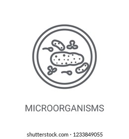 Microorganisms icon. Trendy Microorganisms logo concept on white background from Science collection. Suitable for use on web apps, mobile apps and print media.