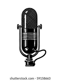 Microphone 2 - Retro Clip Art