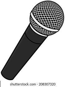 microphone cartoon images stock photos vectors shutterstock rh shutterstock com cartoon microphone images cartoon microphone pictures