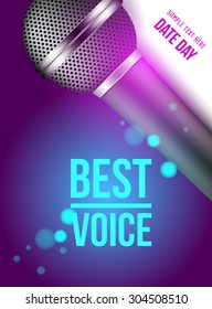 microphone (best voice) banner poster
