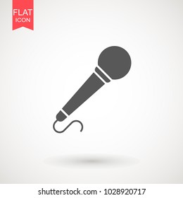 Microphone flat icon. Speaker symbol. Live music sign. Media \Studio\ News logo
