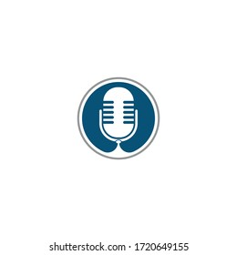 Microphone and Headphones icon logo vector symbol