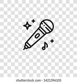 microphone icon from  collection for mobile concept and web apps icon. Transparent outline, thin line microphone icon for website design and mobile, app development